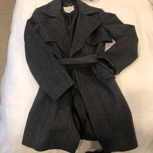 Lucky Brand Gray Patterned Peacoat